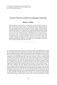 current trends in online language learning pdf download available