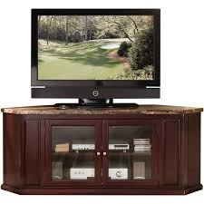 corner media cabinet 60 inch tv acme nevin faux marble and espresso corner tv stand for flat screen