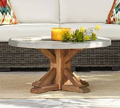 Concrete Tables For Sale Abbott Round Coffee Table Pottery Barn