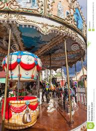 vintage carousel or merry go royalty free stock photos