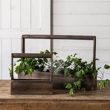 chip and joanna gaines garden wood planter basket magnolia market chip u0026 joanna gaines