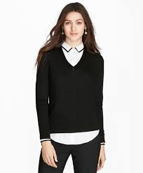 black sweater with white collar s sweater and cardigan sale brothers