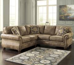 Corner Sectional Sofas by Signature Design By Ashley Larkinhurst Earth Traditional Roll