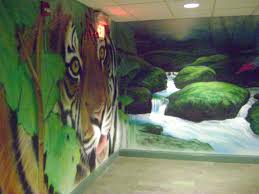 the water closet april 2010 wildlife found on planet earth through the delight of indoor wall murals office complex hallways leading to bathrooms have never looked more subtle