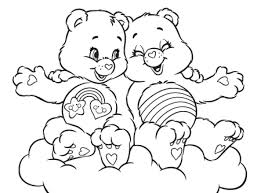 adorable cozy wonderheart care bears coloring ag