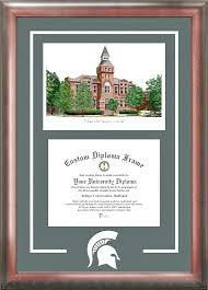 michigan state diploma frame michigan state spartans college diploma frame and
