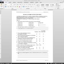 customer satisfaction report template satisfaction survey iso template