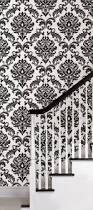 Wallpaper Border Designs 8 Best Powder Room Images On Pinterest Black And White Damask