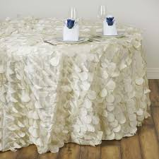wedding linens wholesale 120 fancy ivory wholesale taffeta petal tablecloth for