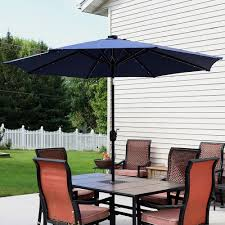 Outdoor Patio Umbrella Sunnydaze Solar Powered Led Lighted Patio Umbrella With Tilt