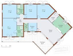 plain pied 4 chambres plan maison gratuit plain pied 4 chambres plan maison