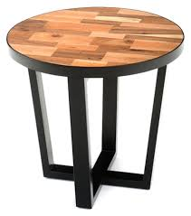 Contemporary End Tables Reclaimed Wood End Table Modern Contemporary Style