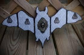 gray and black damask resin bat skull hand made wooden bat home