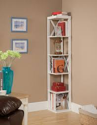 wooden corner bookcase amazon com kings brand furniture wood wall corner 5 tier