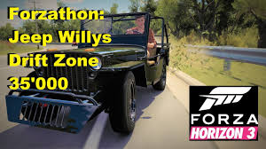 slammed willys jeep jeep willys drift 35 u0027000 forzathon forza horizon 3 youtube