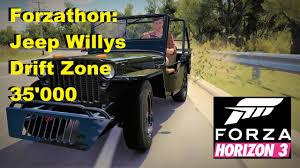 jeep slammed jeep willys drift 35 u0027000 forzathon forza horizon 3 youtube
