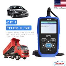 universal car u0026 heavy duty diesel truck diagnostic scanner obdii