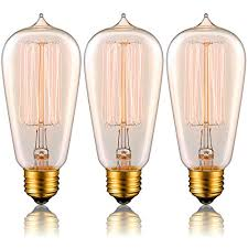 lucero edison bulb 60w with squirrel cage filament st58 vintage