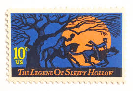 halloween stamp 10 unused sleepy hollow stamps halloween postage stamps