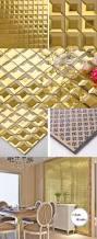 golden beveled tiles fireplace wall design gold glass tile kitchen