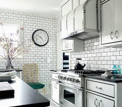 creative kitchen with chevron subway tile backsplash also floral