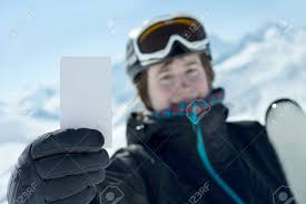 winter sport showing bank lift pass concept to illustrate