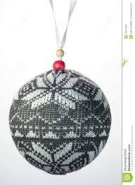 christmas ornament snowflake sweater ball stock photo image