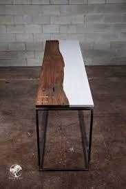 Quartz Console Table This Is A Central Live Edge Black Walnut Cambria Quartz Torquay