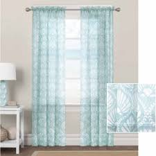 better homes and gardens aqua venus shells sheer curtain panel