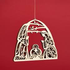 flourish laser cut christmas figures and ornaments