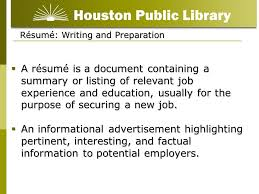 Listing Job Experience On Resume by Résumé Writing For Beginners Ppt Video Online Download