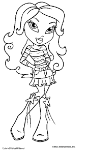 bratz coloring moxie girlz u0026 bratz coloring pages