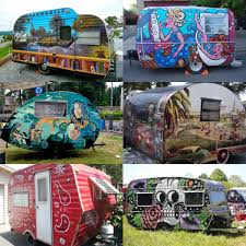 what type of paint to use on rv cabinets would you get a funky paint like these on your cer or