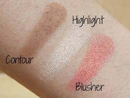 contouring and blush palette sleek face form in light swatches