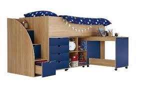 Kidspace Milo Mid Sleeper Kids Bed Frame With Storage Steps NO - Kidspace bunk beds