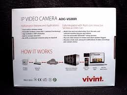 vivint adc v520ir ip video security camera ebay