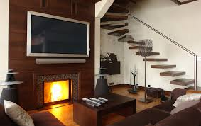 decorating ideas for cozy family room with fireplace and modern