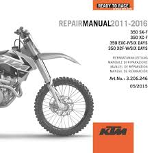 aomc mx ktm dvd repair manual 350 f 11 17