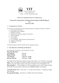Training Resume Format In Plant Training Guidelines Scse