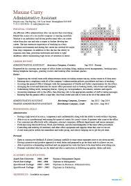Eye Catching Words For Resume Administrative Assistant Cv Sample Planning And Organizing