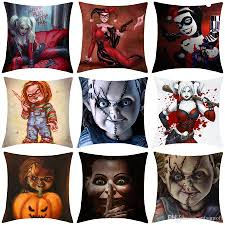 Fall Outdoor Pillows by Harley Quinn U0026 Child U0027s Play Chucky Decorative Cushion Cover