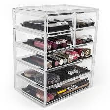 Makeup Organizer Desk Rebrilliant Makeup Cosmetic Organizer Reviews Wayfair