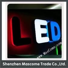 used outdoor lighted signs for business front light led sign letters can be used as wall signs business
