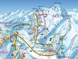 Squaw Trail Map Skiing Sestriere Sestriere Ski Lifts Terrain Tickets Trail
