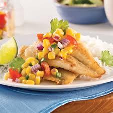 cuisiner de la sole filets de sole salsa de maïs soupers de semaine recettes 5 15