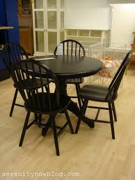 Dark Kitchen Tables by Black Round Dining Room Table With Leaf Starrkingschool
