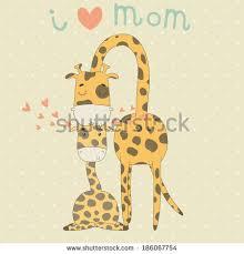s day giraffe illustration giraffes card valentines day stock vector