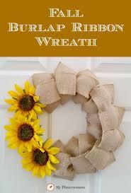 ribbon wreath fall burlap ribbon wreath my pinterventures