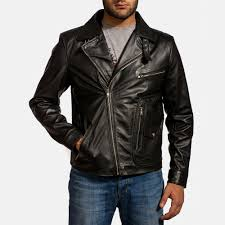 mens moto jacket mens rocker black leather biker jacket