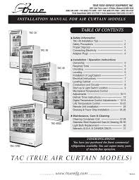 true manufacturing company tac 36 user manual 33 pages also
